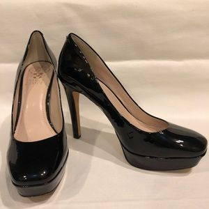 Vince Camuto Shoes Heels Black Patent Leather 7M
